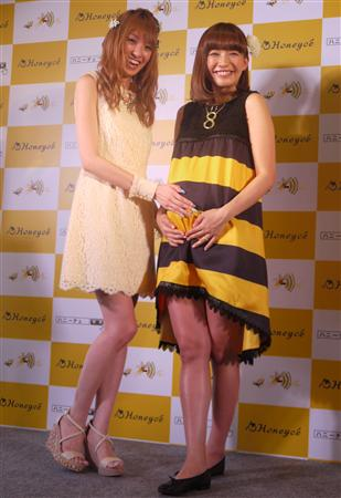 「Honeyce(ハニーチェ)」新商品発表会に出席した南明奈、優木まおみ