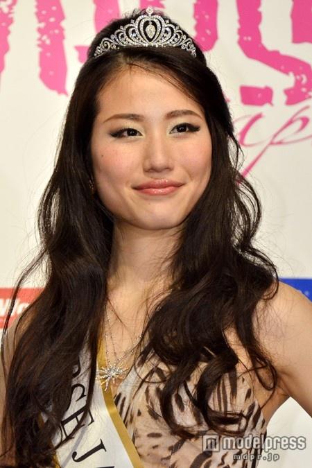 2014ミス・ユニバース・ジャパンに決定した、長崎代表の辻恵子さん(20)
