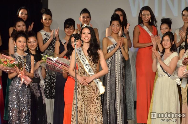 2014ミス・ユニバース・ジャパンに選ばれ喜びを語る、辻恵子さん(20)