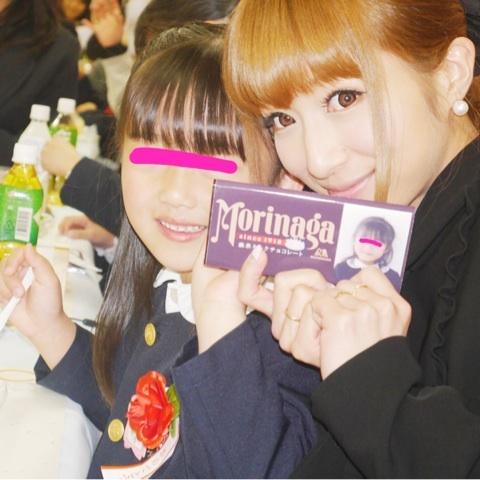 長女の卒園式後の謝恩会で、辻希美と娘のノア