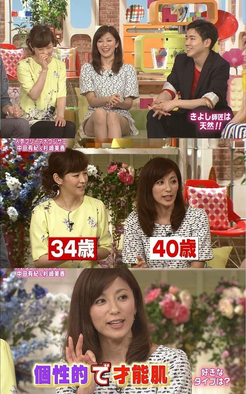 メレンゲの気持ちに出演した中田有紀と杉崎美香