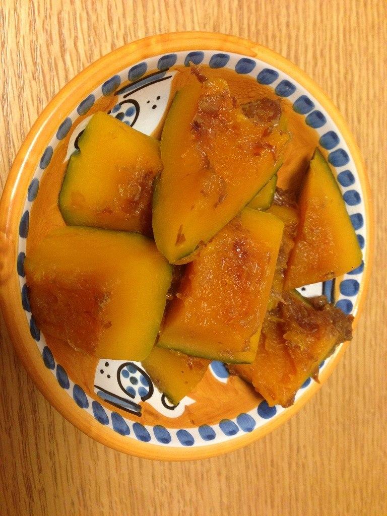竹内由恵アナが作ったかぼちゃの煮つけ