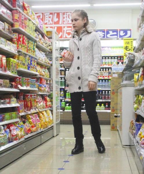 フライデーが撮った日本でのユリア・リプニツカヤ