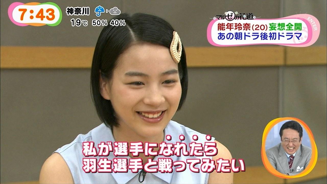 「世にも奇妙な物語」の番宣でめざましテレビに出演した能年玲奈