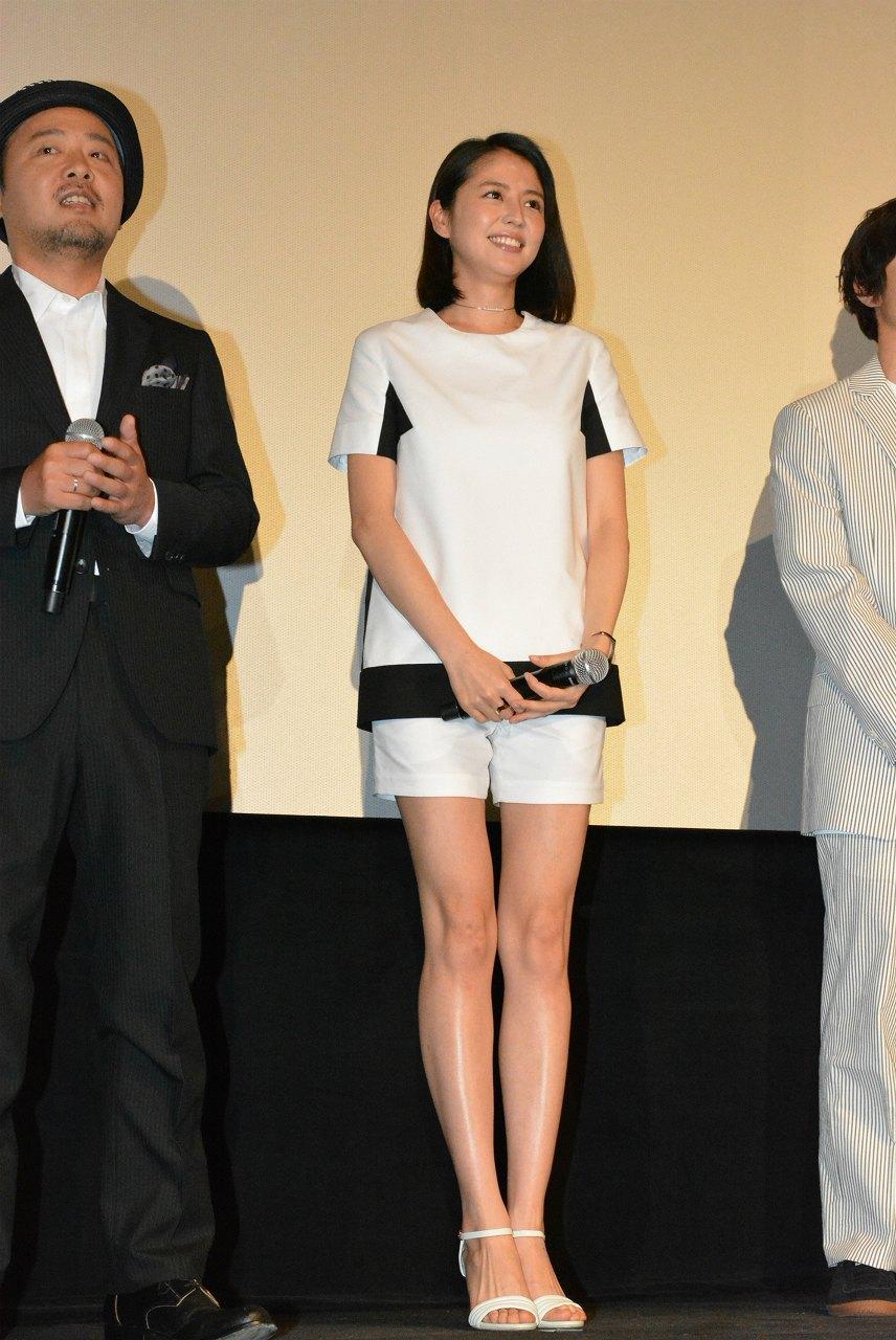 映画『WOOD JOB!(ウッジョブ)~神去なあなあ日常~』初日舞台あいさつの長澤まさみ