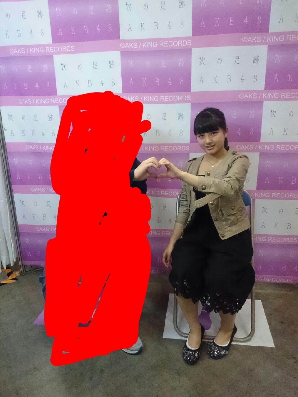 大和田南那の写メ会での画像 太って劣化、お母さん体型になってる