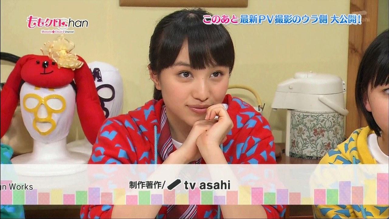 ももクロパーカーを着たももクロの百田夏菜子
