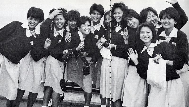 堀越学園時代の南野陽子、岡田有希子、宮崎ますみ
