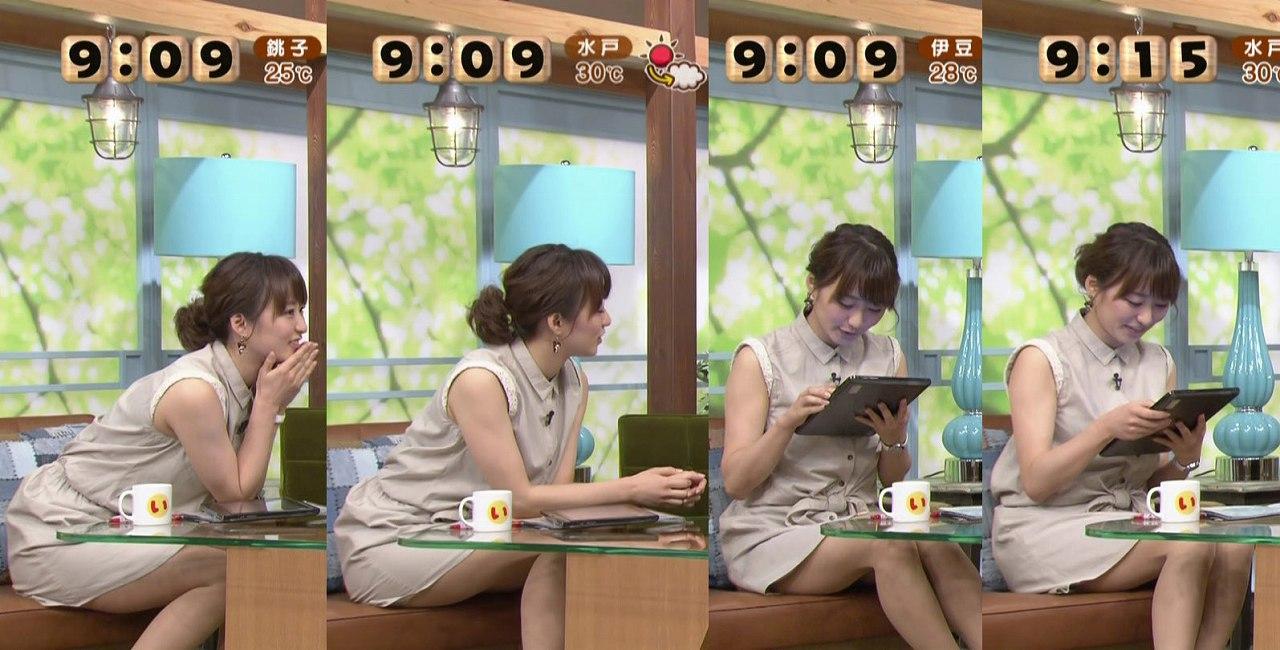 TBS枡田絵理奈アナの太もも
