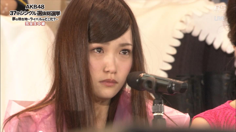AKB48第6回選抜総選挙、選抜入りし会場に登場した川栄李奈