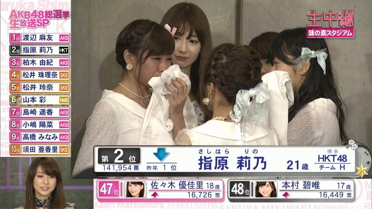 AKB48第6回選抜総選挙後に集まって慰めあうスキャンダルメンバー 渡辺美優紀、小嶋陽菜、峯岸みなみ、指原莉乃