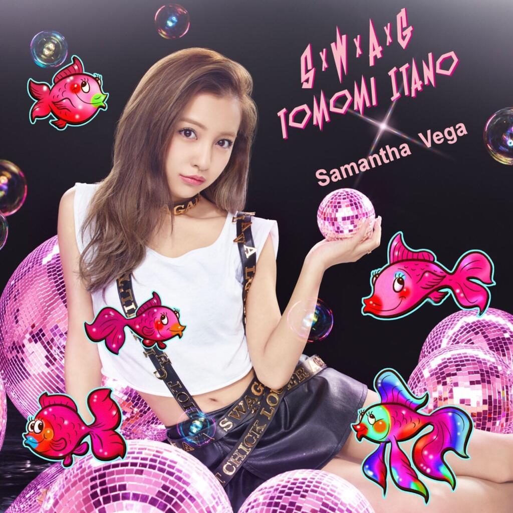 板野友美の1stアルバム「S×W×A×G」のサマンサベガ盤版ジャケット