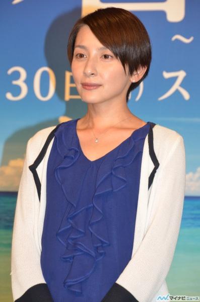昼ドラ「碧の海~LONG SUMMER~」制作発表会見の奥菜恵