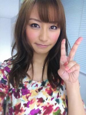 TBS枡田絵理奈アナの自撮り画像