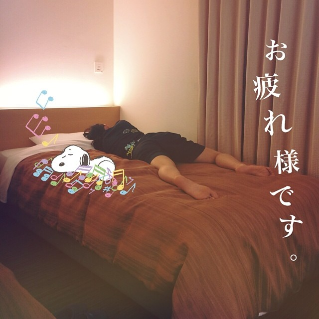 ベッドで寝る木村沙織
