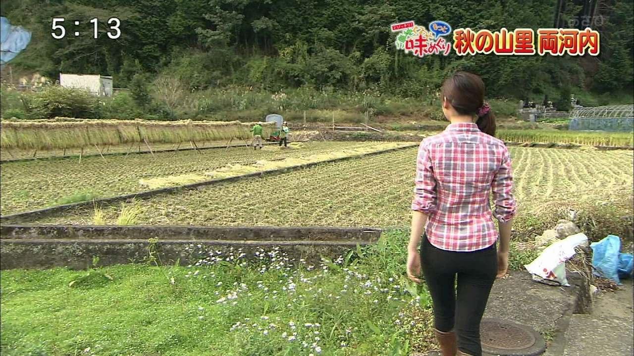 静岡朝日テレビの牧野結美アナのお尻
