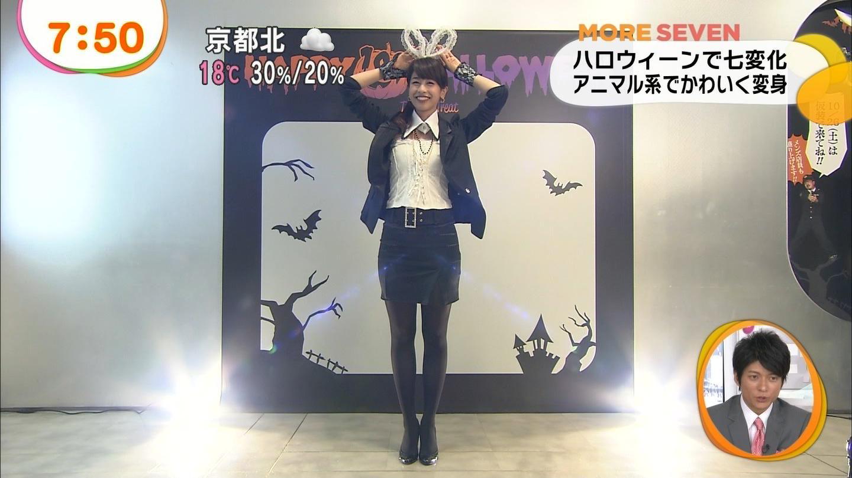 ハロウィンコスプレの加藤綾子アナ