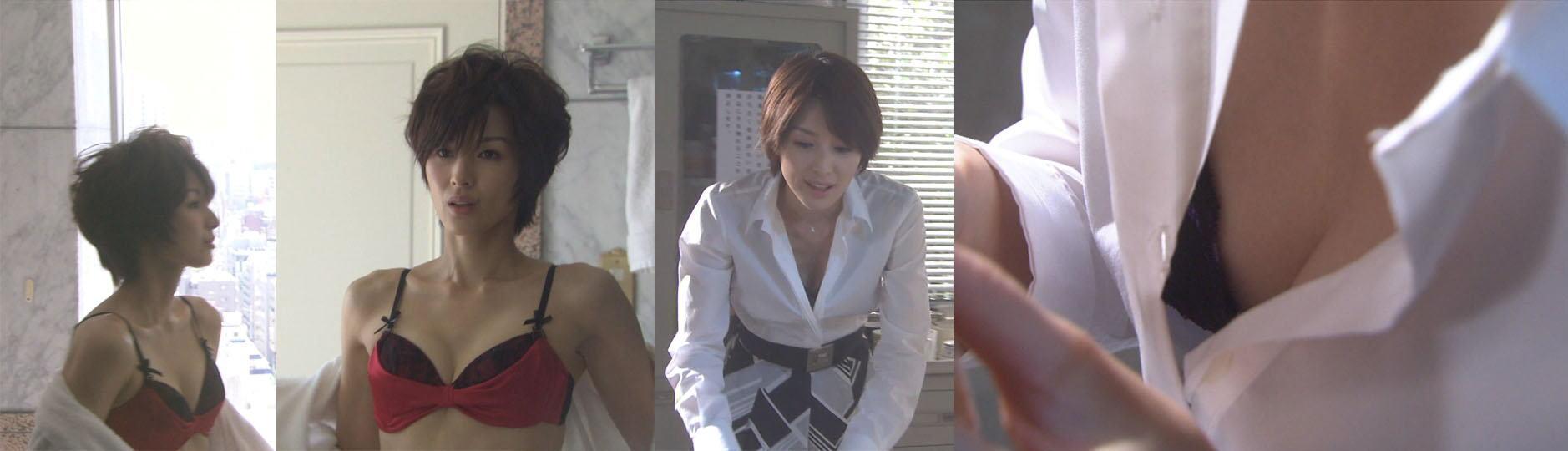 吉瀬美智子の胸チラおっぱい