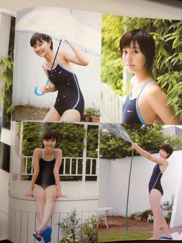 アップアップガールズ(仮)、新井愛瞳の競泳水着グラビア