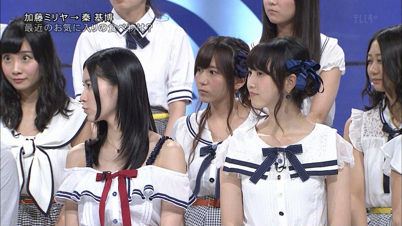 MUSIC FAIRに出演したSKE48の柴田阿弥、松井珠理奈