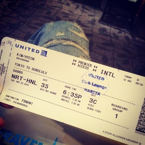 金子賢の航空チケット