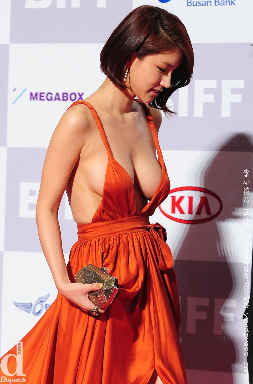 韓国女優オ・イネ(オ・インヘ)のノーブラ下乳