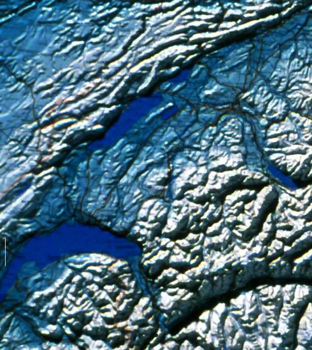 衛星地図 のジュラ部分