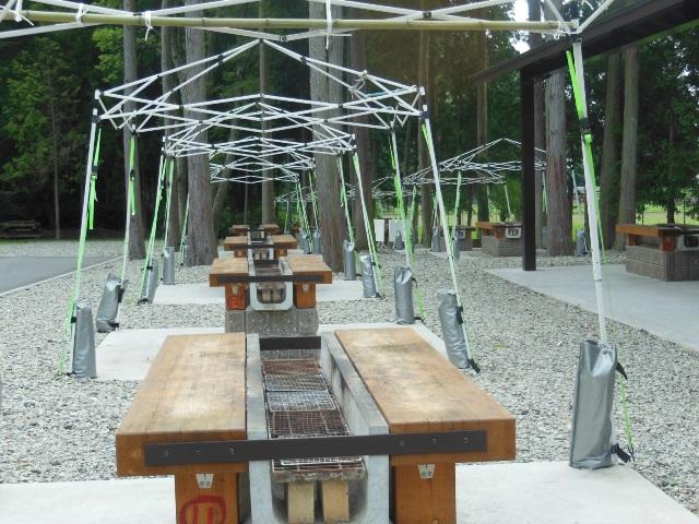 BBQサイト テント屋根(640)