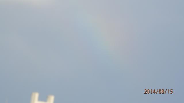 6:17 虹が出て来た ^^