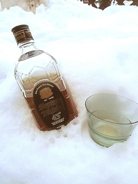 雪見でウイスキー