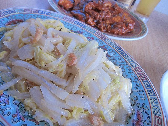 白菜エビ炒め
