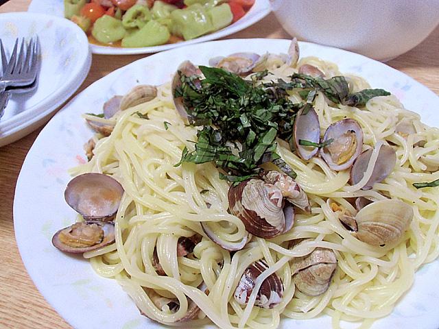 貝のスパゲティ