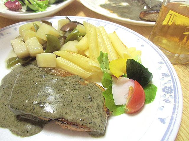 鯖のバジル風味