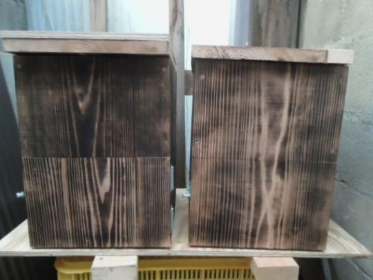 蜜蜂 待ち箱の作成 H26