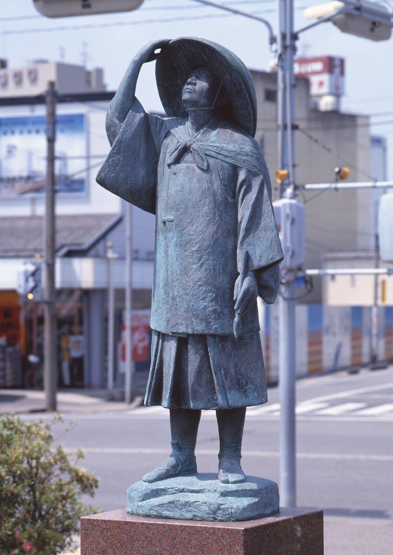 「青雲像」(長谷川等伯像) 田中太郎作(七尾美術館より提供)