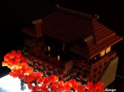 清水寺の秋夜景400