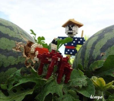 nano案山子とシオマネキB400