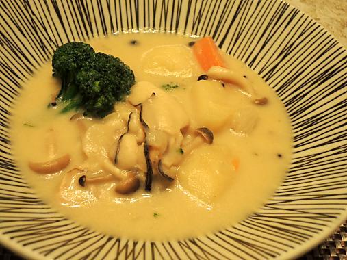 2月25日 牡蠣の豆乳チャウダー