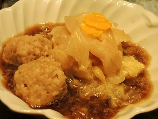 3月30日 肉団子、白菜