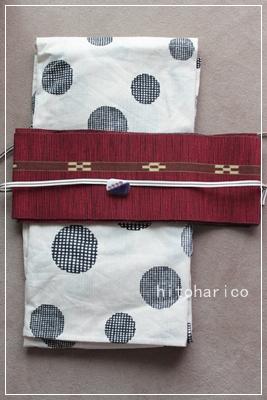 浴衣 ミンサー織り帯