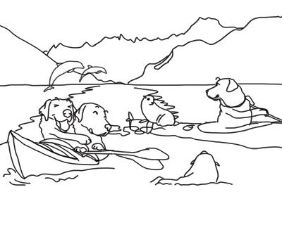 羊の国のラブラドール絵日記シニア!!カレンダー宣伝