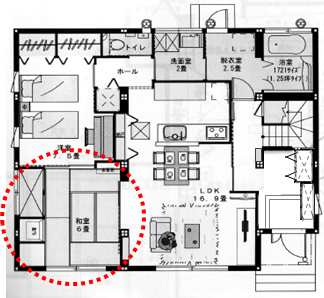 1階和室間取り1