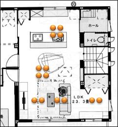 2階LD照明図面