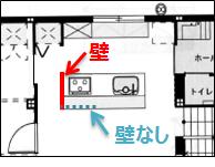 2階キッチン間取り2