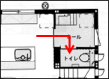 2階トイレ間取り2