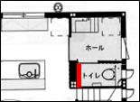 2階トイレ間取り3