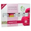 Andalou Naturals, Get Started Kit, 1000 Roses, Sensitive, 5 Piece Kit -