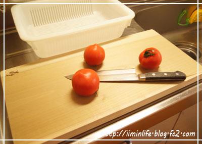 朴ノ木まな板&トマト