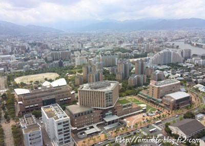 福岡タワーから市民病院
