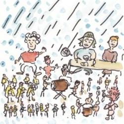 夏だ祭りだ雨だ